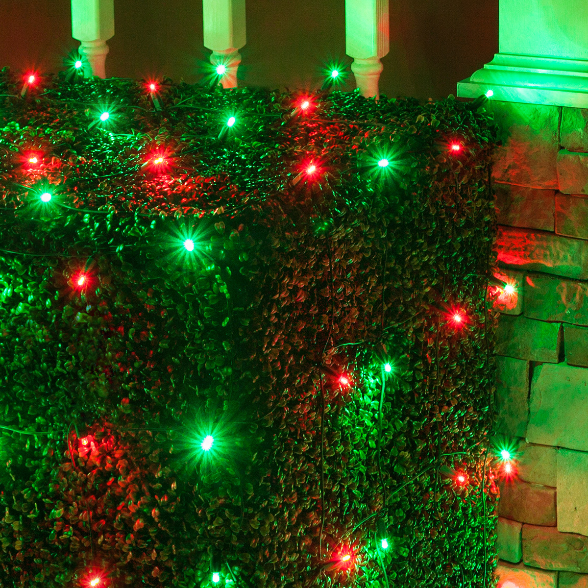 Green Christmas Lights.Wintergreen Lighting Red Green Led Net Lights Christmas Net Lights 100 5mm Lights 4 X6 Net Energy Star Rated