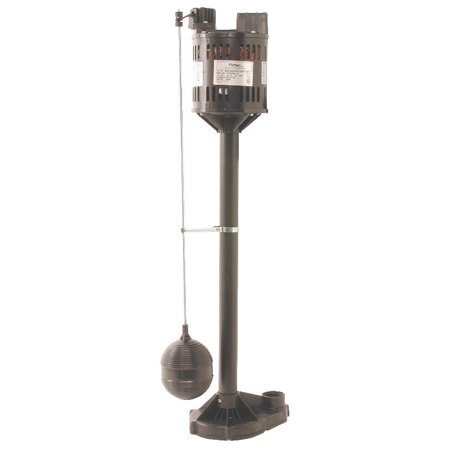 Flotec Fppss3000 Pedestal Sump Pump With Vertical Float Switch  3000 Gph  1 3 Hp  115 Vac  3 5 A