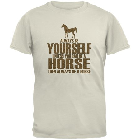 Always Be Yourself Horse Natural Youth T-Shirt
