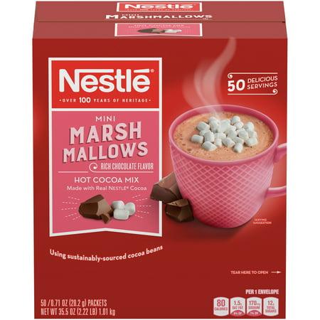 Marshmallow Cocoa (Nestlé Rich Milk Chocolate Hot Cocoa with Mini Marshmallows 50 single serve packets)