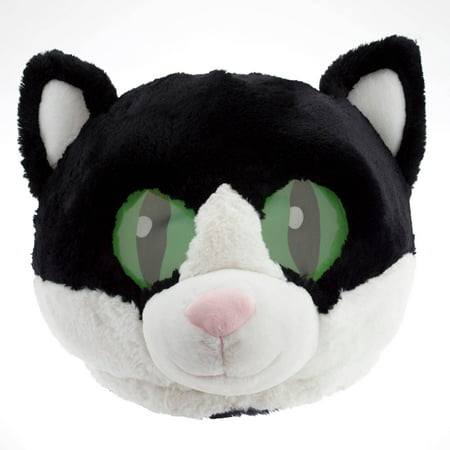 Adorable Large Plush Head Mask Halloween Accessory, Cat](Halloween Mask Cat)