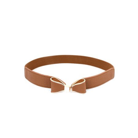 Bow Tie Detail Interlocking Buckle Elastic Waist Belt for (Best Vows For Her)