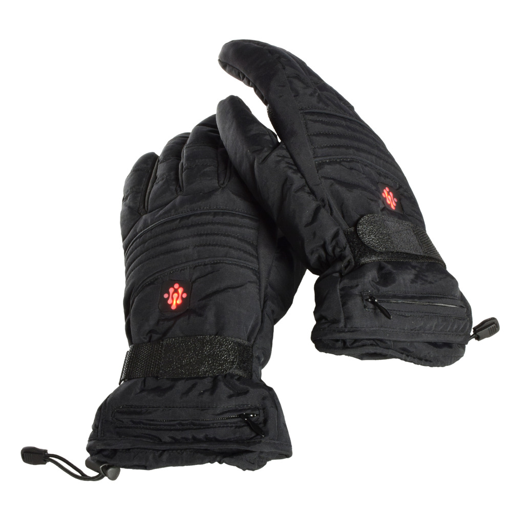 Ivation Electric Heated Gloves, Rechargeable Fleece Lined with 3 Temp