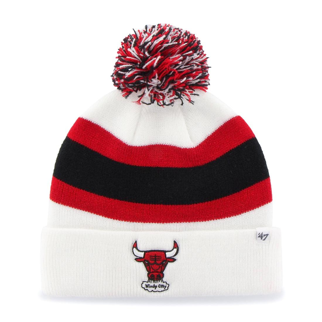 "Chicago Bulls 47 Brand NBA Vintage ""Breakaway"" Cuffed Knit Hat White by 47 Brand"