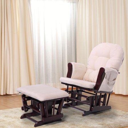 Stupendous Jaxpety Windsor Glider And Ottoman With Beige Cushions Beech Wood Nursing Chair Relax Chair Set Inzonedesignstudio Interior Chair Design Inzonedesignstudiocom