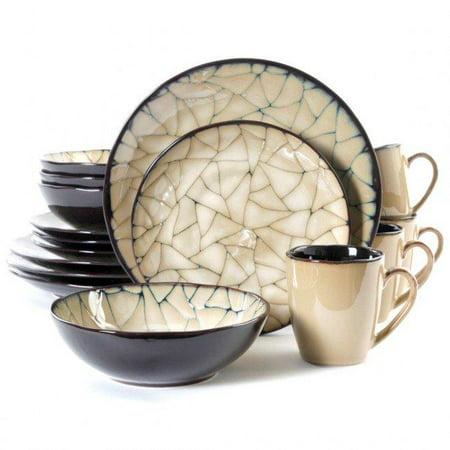 Elite Zambezi Dinnerware Set, Cream Dinnerware Set Cream