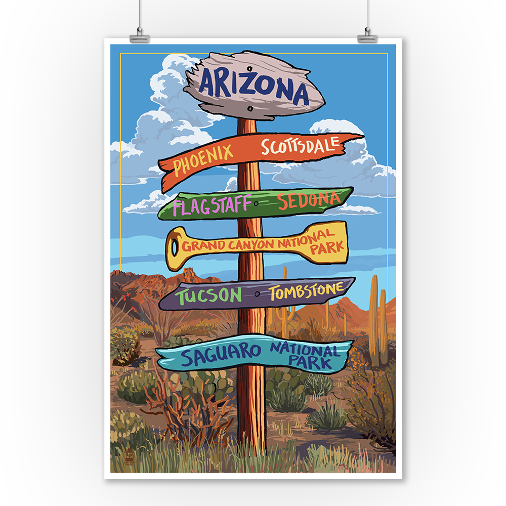 Arizona Phoenix Tucson Scottsdale Sedona Travel Vintage Poster Repro FREE S//H