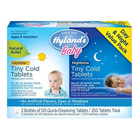 Hylands Baby Homeopathic Tiny Cold Tablets For Day And