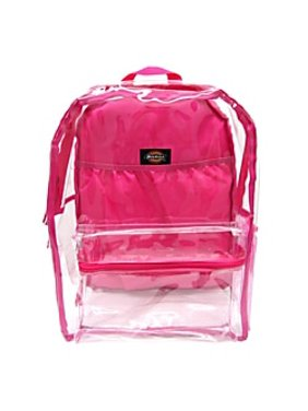 Dickies Student Fashion Backpack, Clear/Pink, One Size