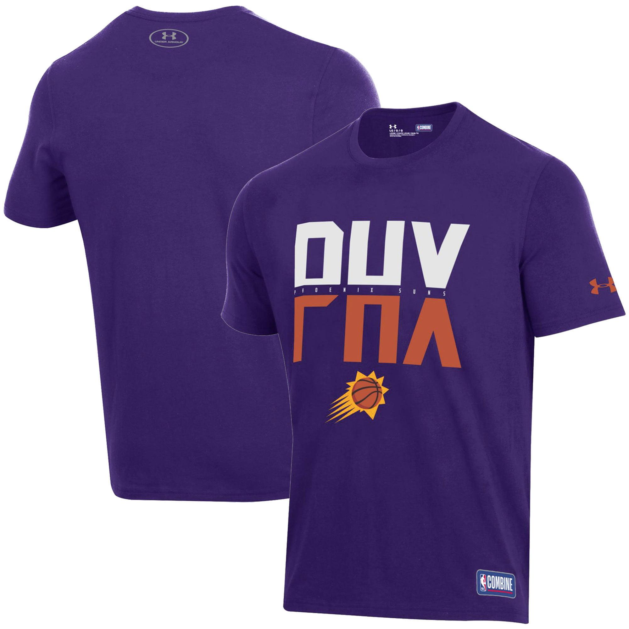 Phoenix Suns Under Armour Combine Authentic City Performance T-Shirt - Purple