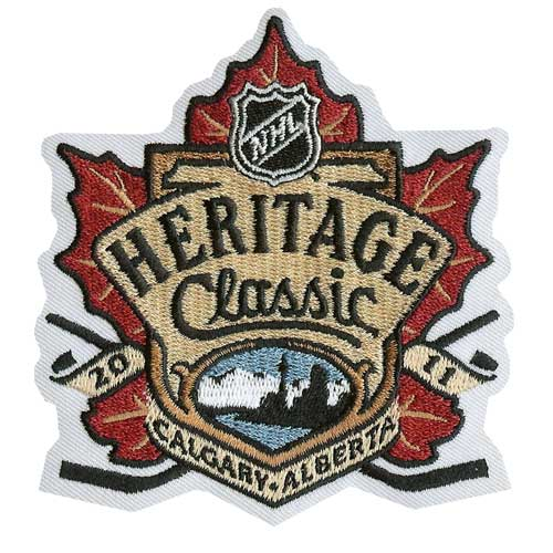 2011 Heritage Classic Game Calgary Flames Montreal Canadiens Jersey Patch English