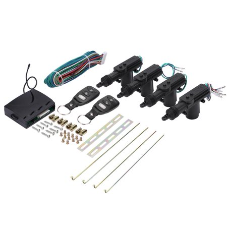 Car Door Remote Kit, Lock System Auto Locking Security Keyless Entry Kit,Operation with remote control for keyless entry