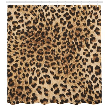 Y Leopard Tiger Animal Skin Print Shower Curtain Extra Long 84 Inch