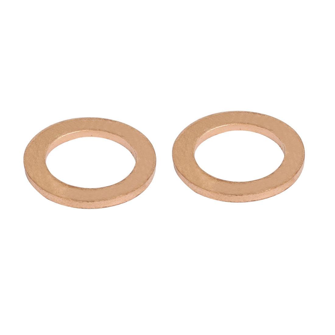 20pcs 12mmx20mmx1.5mm Copper Flat Ring Sealing Crush Washer Gasket - image 1 of 2