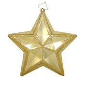 "12"" Shiny Vegas Gold Commercial Size Shatterproof Star Christmas Ornament"