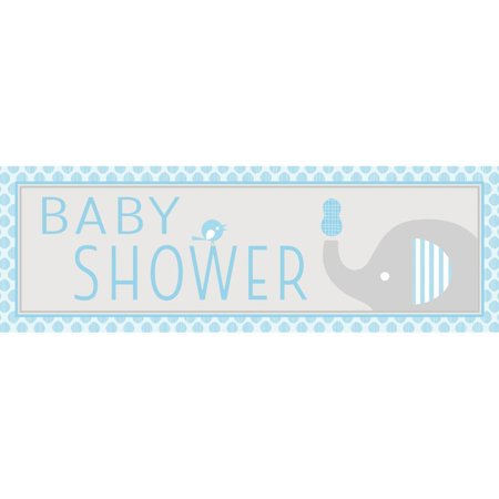 Creative Converting Little Peanut Boy Elephant Giant Baby Shower Banner (Little Peanut Bunting)
