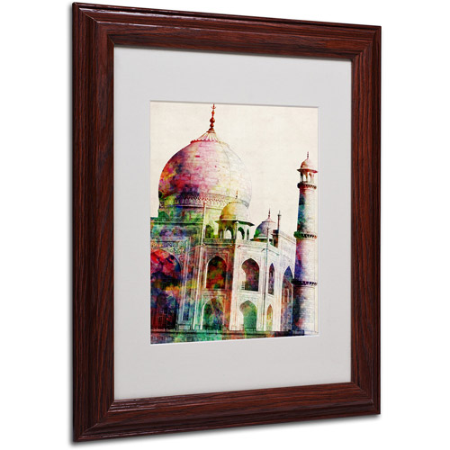 Trademark Art 'Taj Mahal' Framed Matted Art by Michael Tompsett