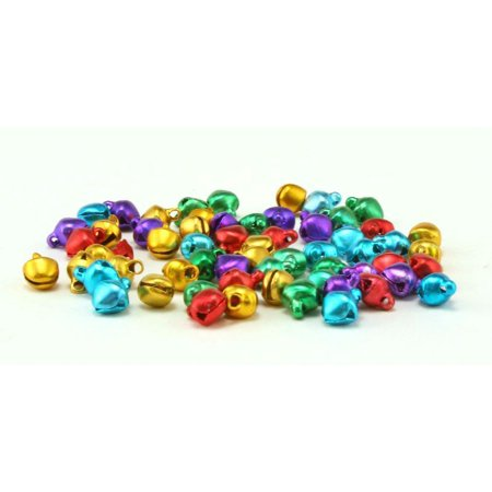 6mm 0.25 inch Jewel Toned Tiny Mini Craft Jingle Bell Bulk 100 Pieces](Crafting Stores)