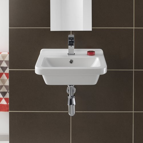 Bissonnet Pro Vitreous China 18'' Wall Mount Bathroom Sink with Overflow