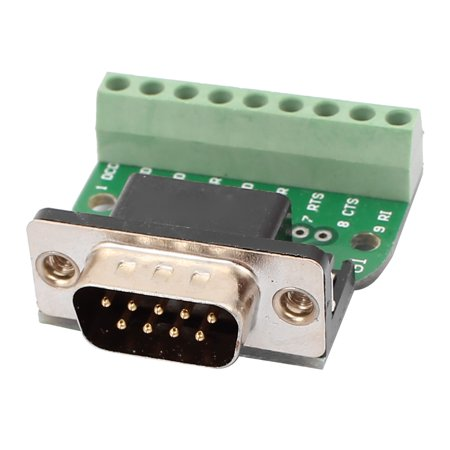 DB9 RS232 Serial Male Adapter Board 9 Positions Terminal Connector Signal  Module