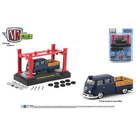 M2 Machines 1:64 Model Kit Release 21 1961 VW Double Cab Truck USA Model (Standard Cab Models)