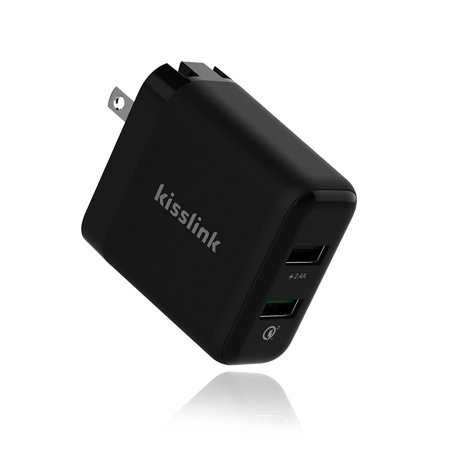 Kisslink Kw3210 Dual Usb Smart Wall Charger With Qualcomm Quick Charge