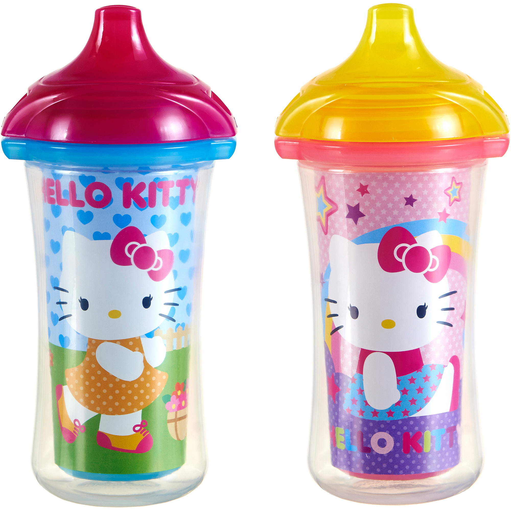 Munchkin Hello Kitty Click Lock 9 Oz Insulated Sippy Cup, BPA-Free, 2 count