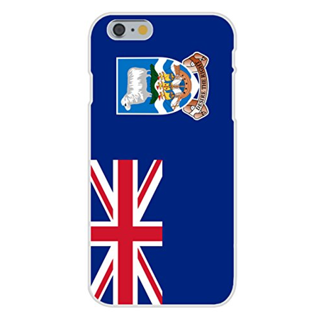 Apple iPhone 6+ (Plus) Custom Case White Plastic Snap On - Falkland Islands - World Country National (Country Falkland Islands)