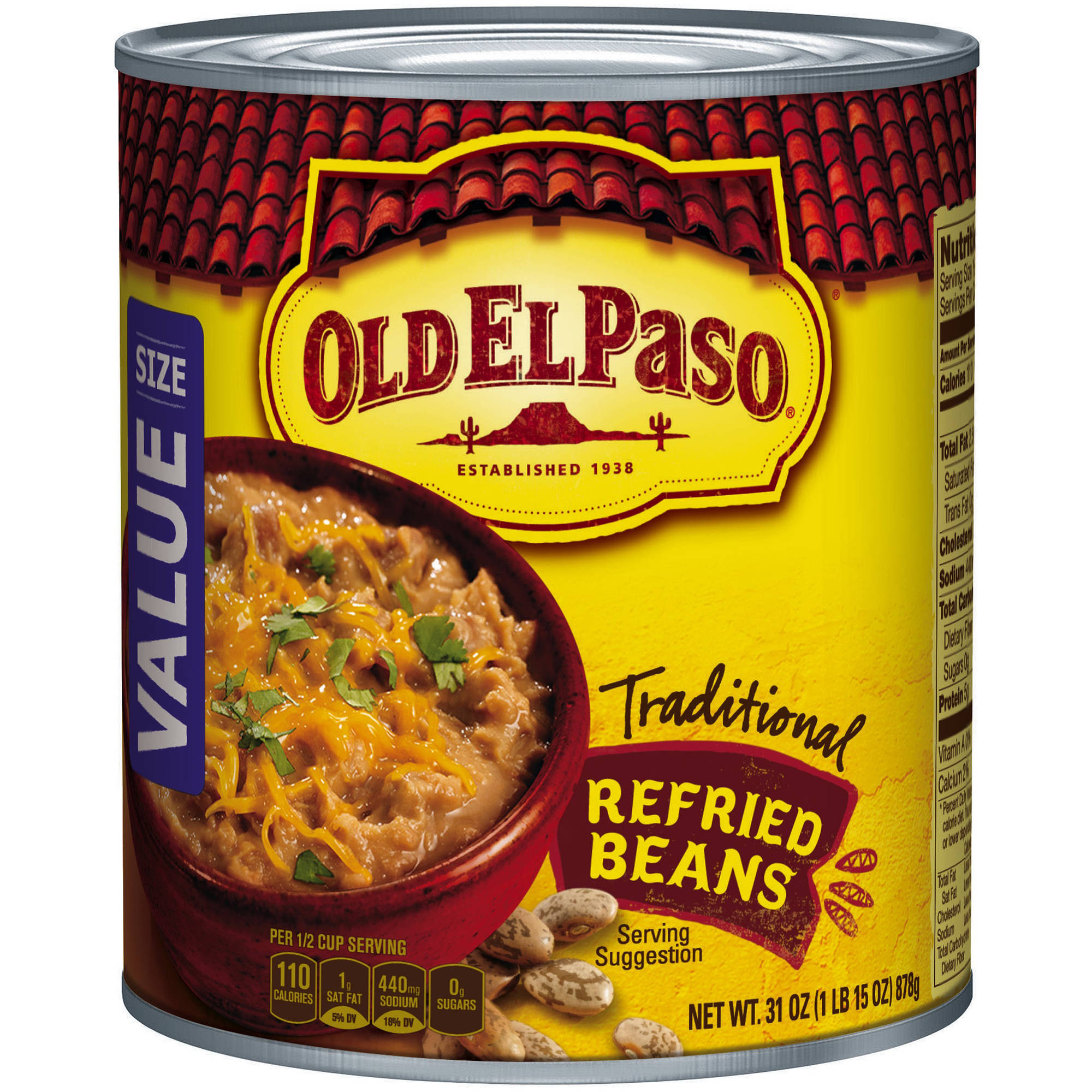 Old El Paso�� Traditional Refried Beans 31 oz. Can