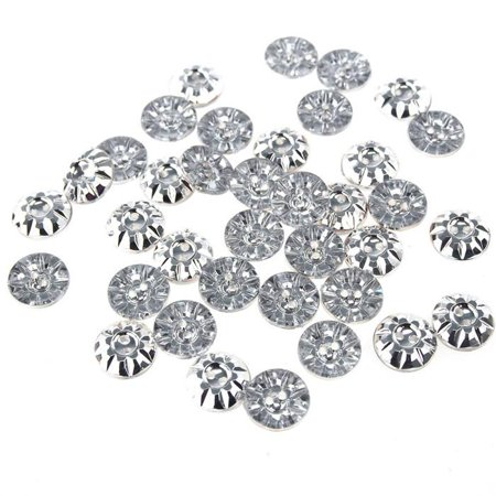 Acrylic Silver Round Buttons, 1/2-Inch, 40-Piece (Silver Round Button)