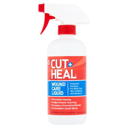 Manna Pro Cut-Heal Wound Care Liquid Spray for Horse & Dog, 16 fl. oz. (Horse Health Apple)