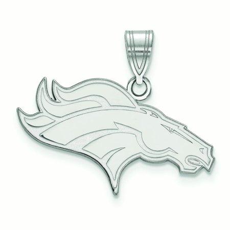 Denver Broncos Sterling Silver Medium Logo Pendant - No Size Denver Broncos Silver Laser