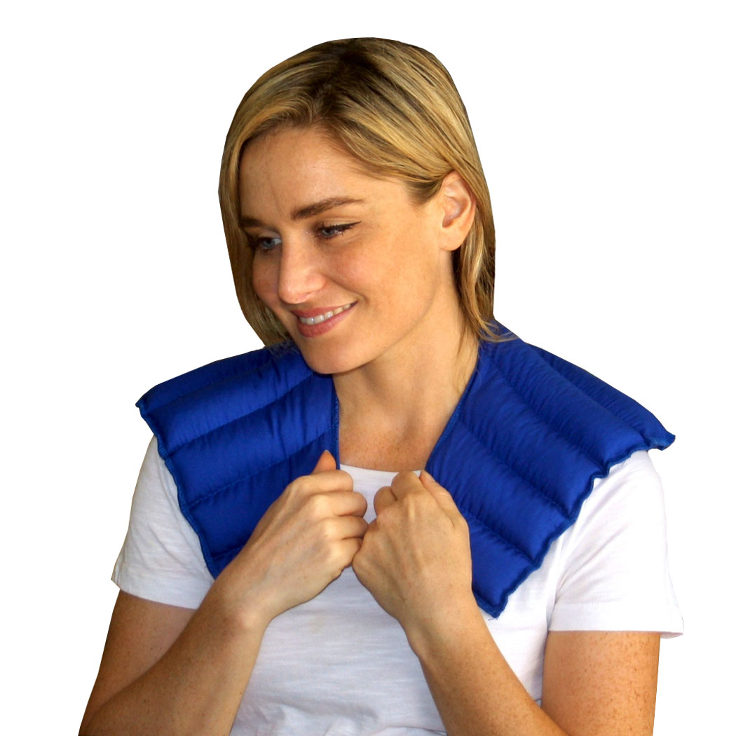 My Heating Pad- Neck & Shoulder Wrap - Natural Heat Therapy - Neck Pain Relief (Blue)