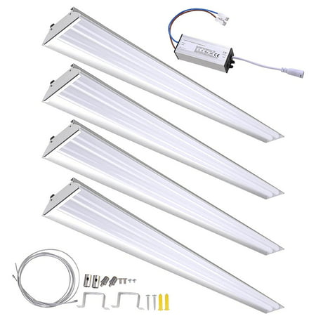 DELight 40W LED Shop Light 4000-4500lm Garage Work Shop Hanging Light Feature Ceiling Light Aluminum