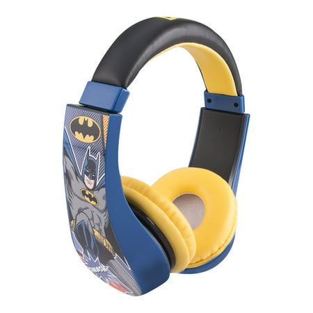 Batman Kids Friendly Cushioned Headphones with Volume (Best Safe Headphones With Volumes)