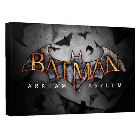 Trevco Bm2662 Adv2 16X24 Batman Arkham Asylum Logo Quickpro Artwrap Back Board  White   16 X 24 In