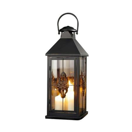 Lantern Style Hanging - Large 25 in. Metal European-style Hanging Candle Lantern