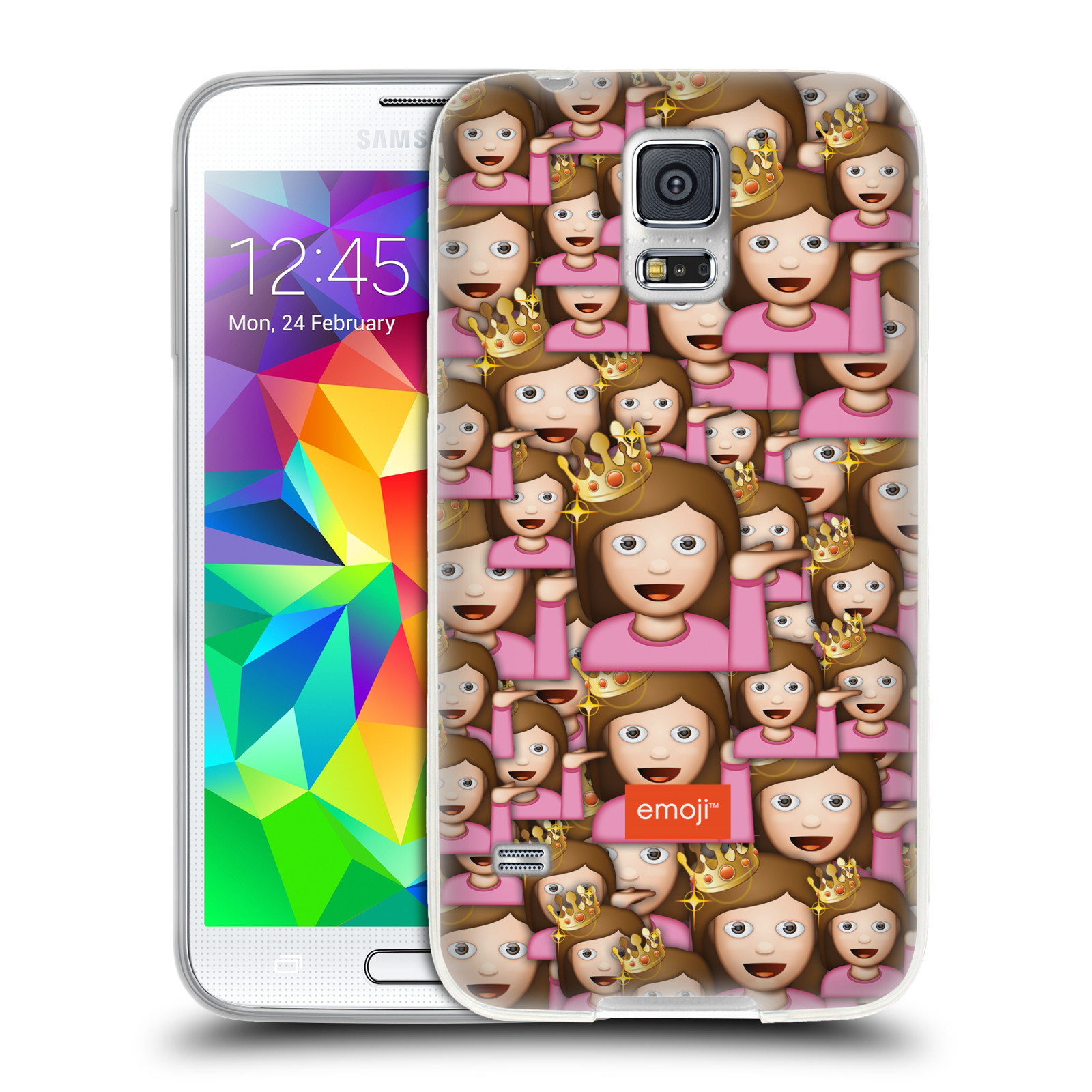 OFFICIAL EMOJI FULL PATTERNS SOFT GEL CASE FOR SAMSUNG PHONES 1