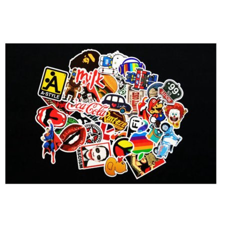 300pcs/100pcs Waterproof Sticker Skateboard Sticker Graffiti Laptop Luggage Car Decor