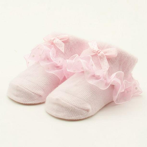 on brand Wuderland Cute Baby Infant Lace Sock Girls Tiny Newborn Sock Baby Socks Newborn Spanish Knitted Cotton Blend Ankle Socks