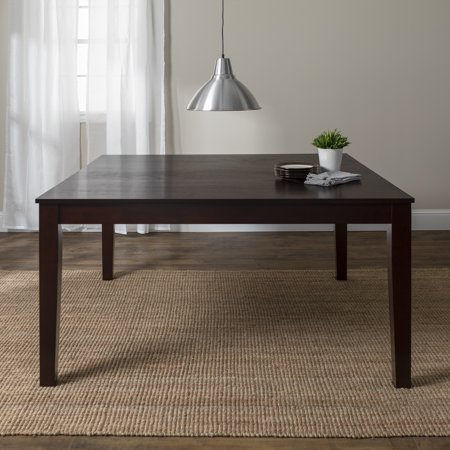 Round Solid Wood Table (Walker Edison Solid Wood Casual Dining Table - Cappuccino )