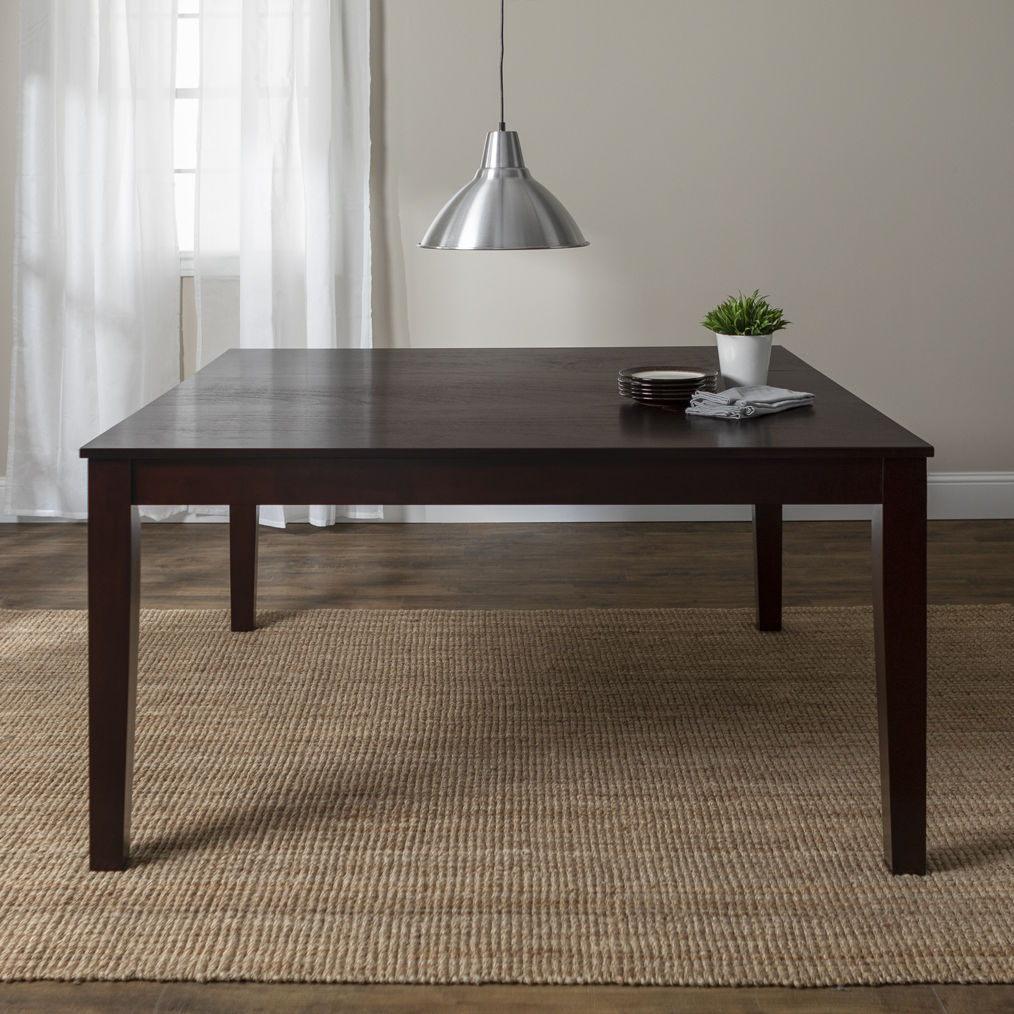 "Walker Edison 60"" Wood Square Dining Table, Cappuccino"