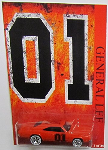 """'69 DODGE CHARGER 500 Hot Wheels CUSTOM """"GENERAL LEE"""" Series with Real Rider Rubber Wheels Limited... by Mattel"""