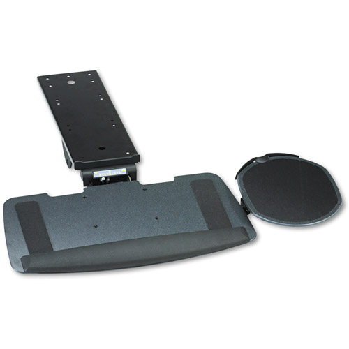 HON Maestro Articulating Keyboard/Mouse Platform, Tray: 20-3/4w x 11d, Black