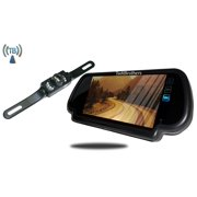 Tadibrothers 7 Inch Rear view Mirror with Wireless License Plate Backup Camera