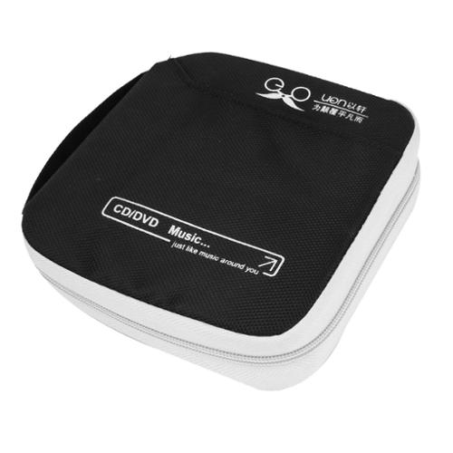 White Black 32 Capacity CD DVD Case Bag OrganizerHolder for Home Car Auto
