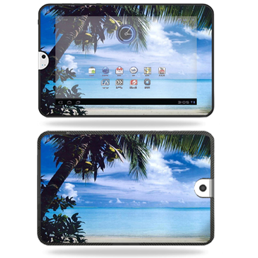Mightyskins Protective Vinyl Skin Decal Cover for Toshiba Thrive 10.1 Android Tablet wrap sticker skins Beach Bum