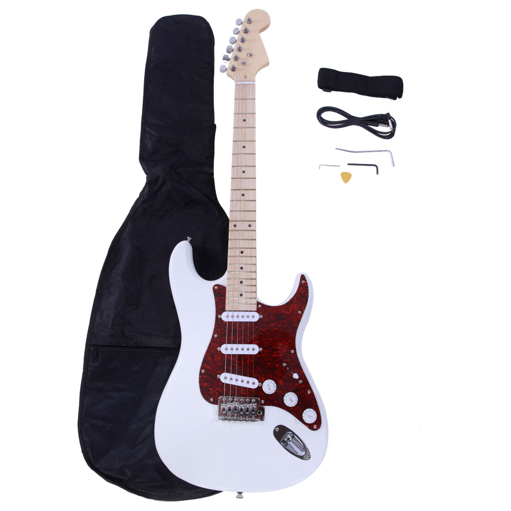 Zimtown ST3 Electric Guitar + Strap + Cord + Gig Bag + Picks for Beginner