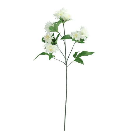 "Silk Artificial Spray - Northlight 27"" White Dahlia Silk Flower Artificial Floral Spring Spray"