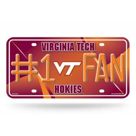Virginia Tech Hokies Metal - Virginia Tech Hokies #1 Fan Metal License Plate